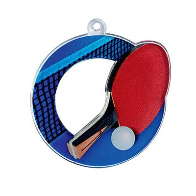 Médaille tennis de table plexiglas Ø50mm