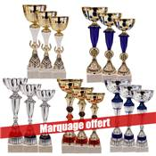 Lot de 15 coupes