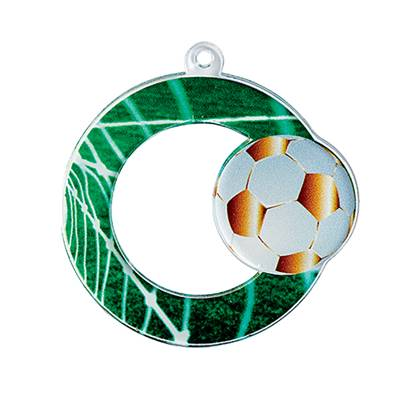 Médaille football plexiglas Ø50mm