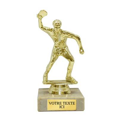 Trophée tennis de table plastique 14cm