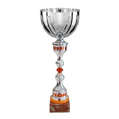 Coupe argent orange 43cm